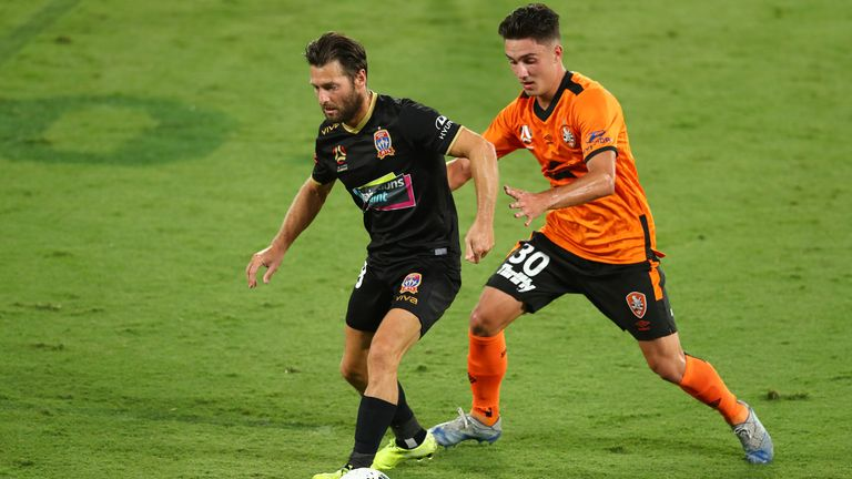 Hoolahan enjoyed a brief stint for the Newcastle Jets in the A-League in Australia
