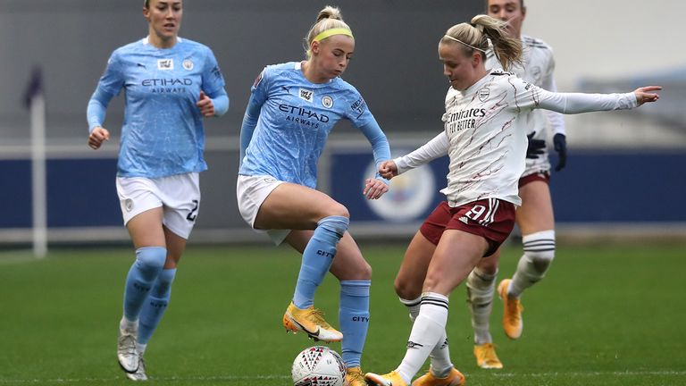 City travel to face Arsenal in the WSL on Sunday