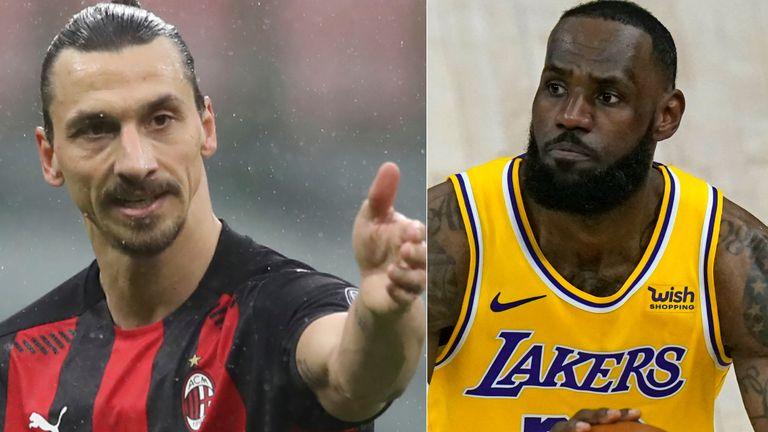 AP: Zlatan Ibrahimovic and Lebron James