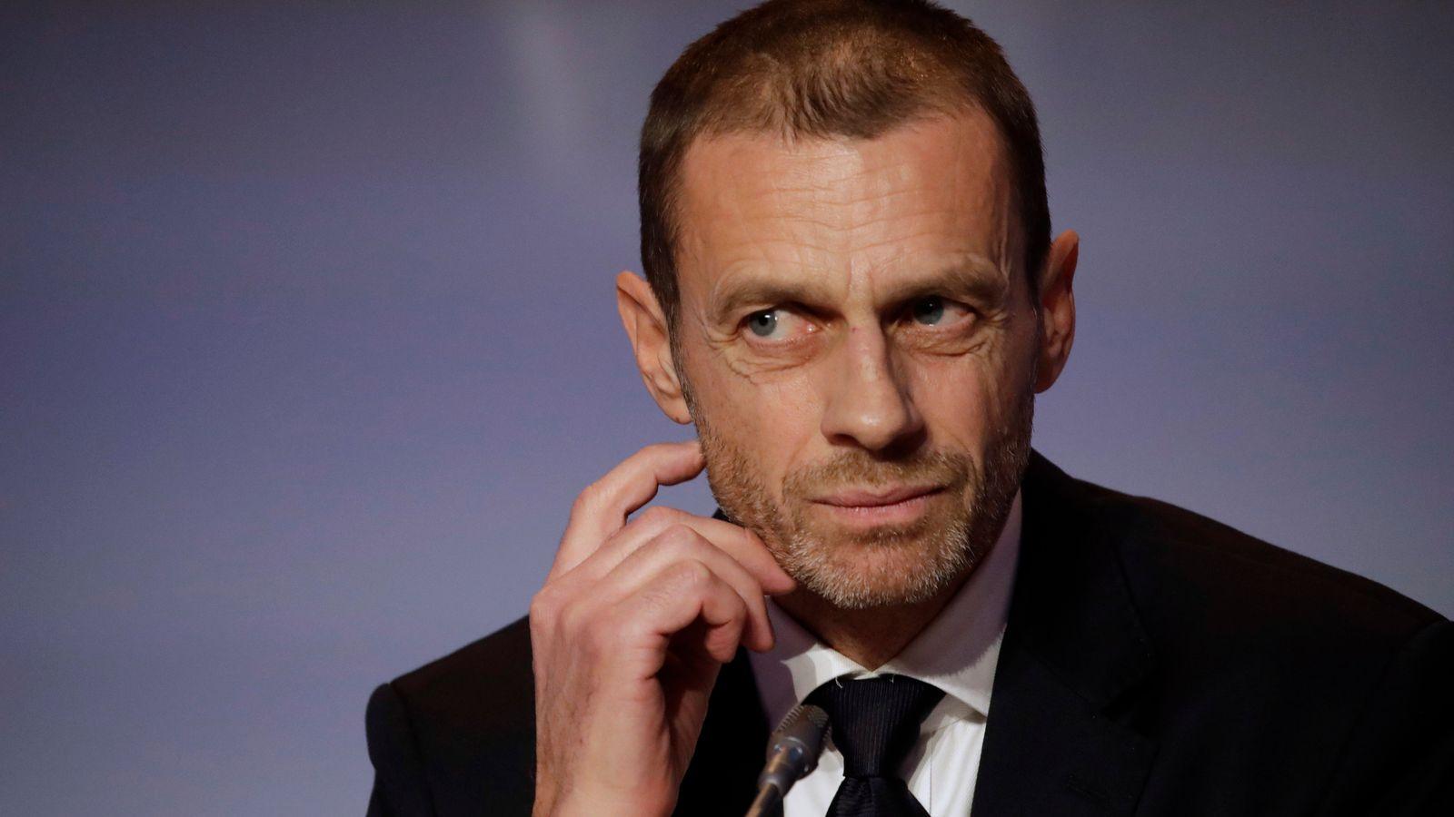 European Super League: UEFA president Aleksander Ceferin condemns 'disgraceful' proposals