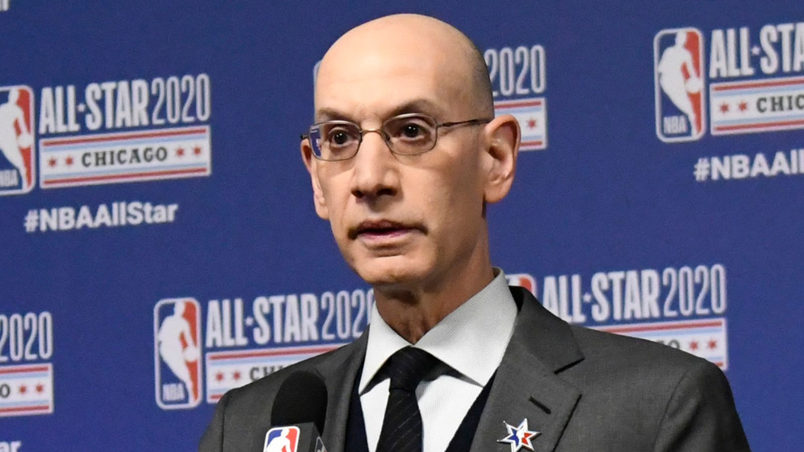 NBA commissioner Adam Silver says vaccines will not mandatory for players, NBA logo not changing