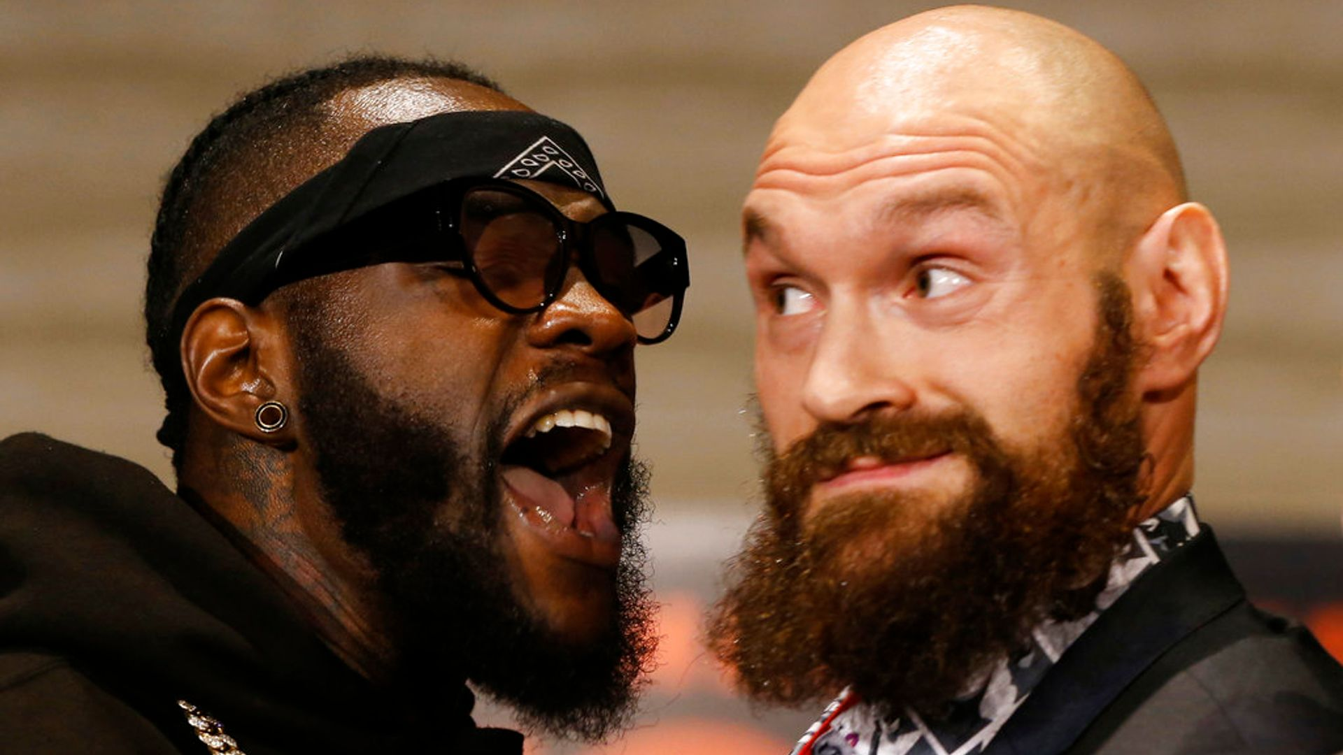 Tyson Fury and Deontay Wilder in tense face-off – Fury predicts: 'I guarantee he