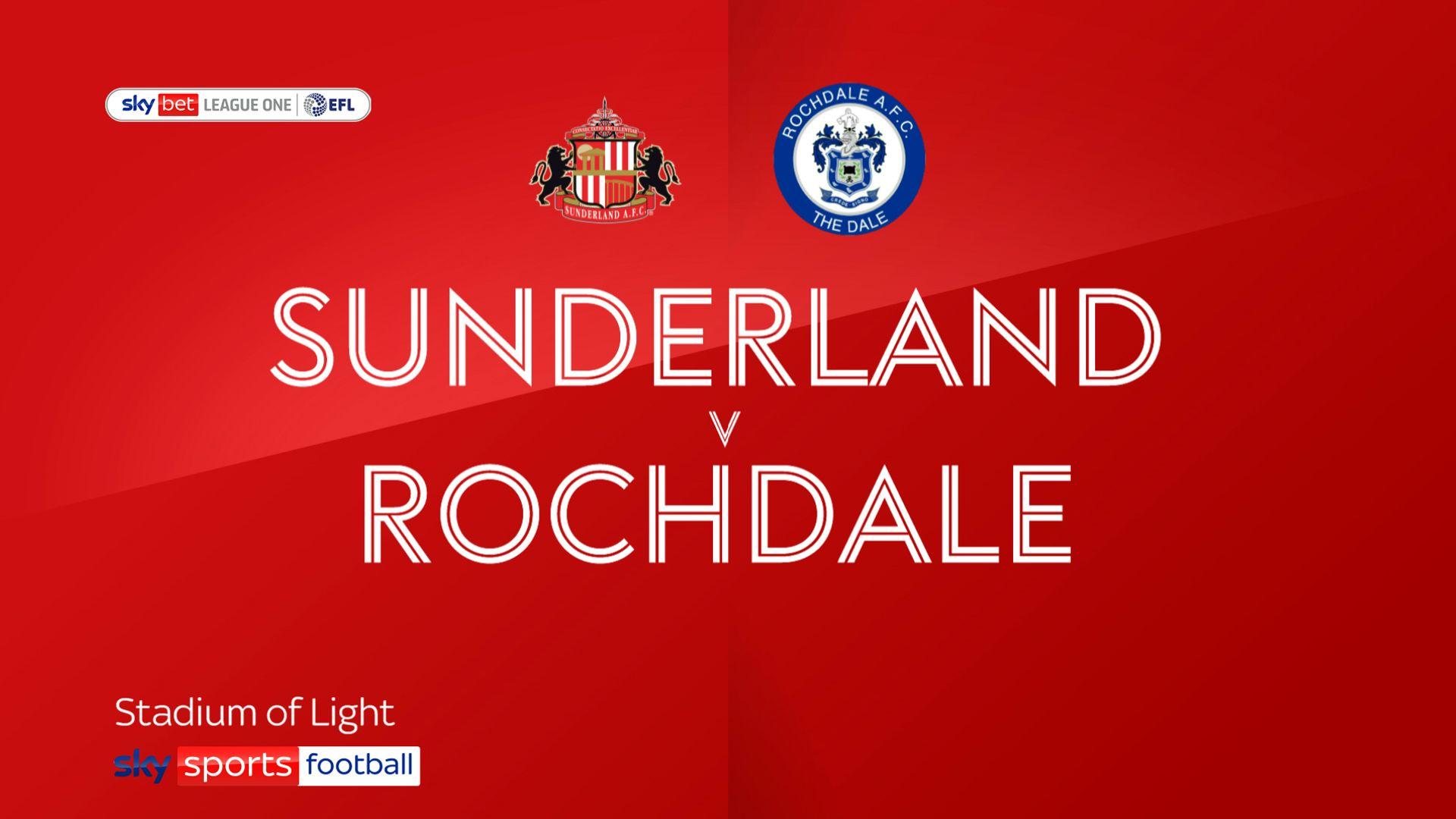 Wyke on target as Sunderland beat Rochdale