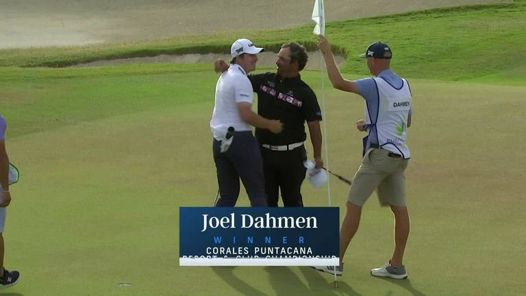 Watch the late drama as Joel Dahmen wins the Corales Puntacana Resort & Club Championship after an agonising near-miss by Rafael Campos