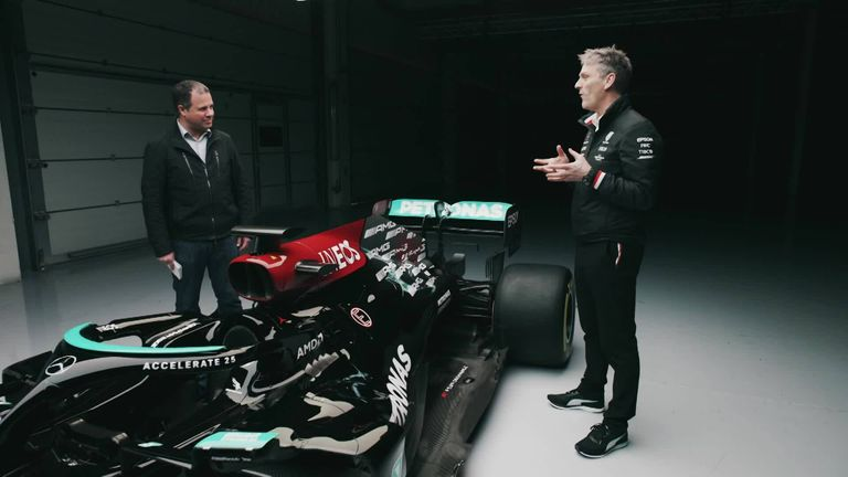 EXCLUSIVE: Watch the full EXTENDED VERSION of Ted Kravitz with Mercedes technical director James Allison as they explore the differences on this year's W12 after winter rule changes.
