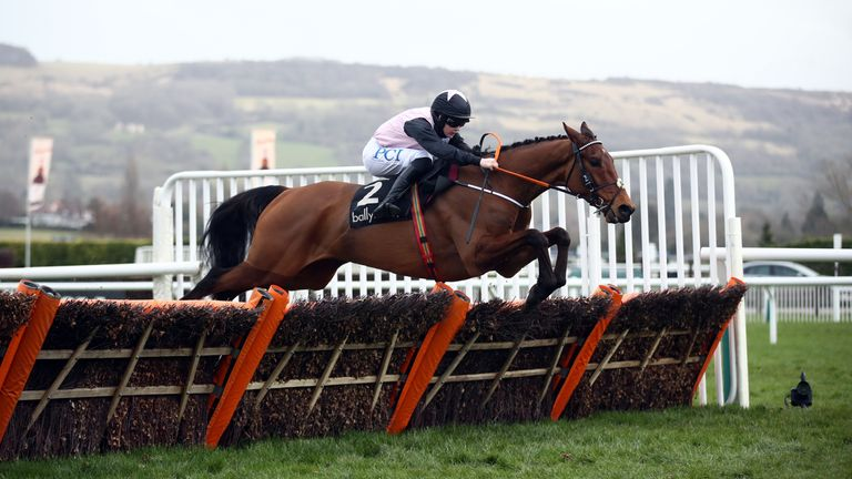 Bob Olinger ridden by Rachael Blackmore on their way to winning the Ballymore Novices' Hurdle on day two of the Cheltenham Festival at Cheltenham Racecourse. Picture date: Wednesday March 17, 2021.