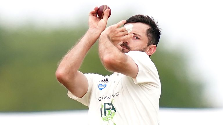 Ian Holland starred with bat and ball for Hampshire