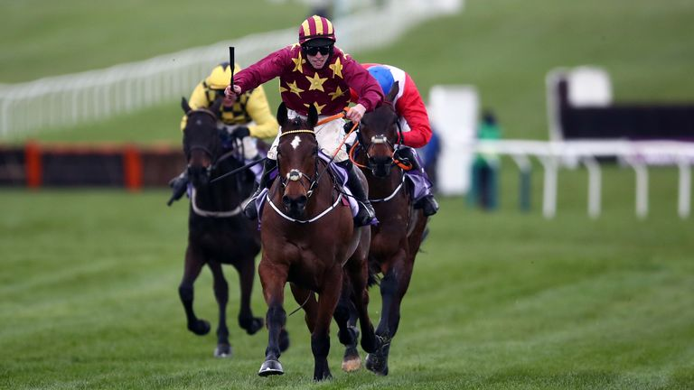 Minella Indo ridden by Jack Kennedy wins the Cheltenham Gold Cup