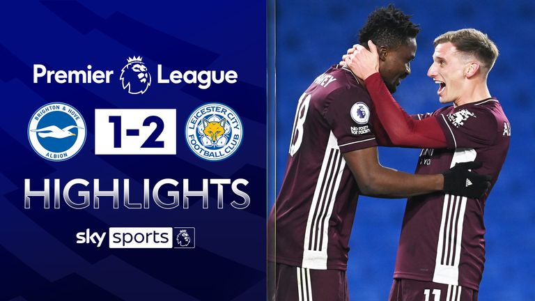 FREE TO WATCH: Highlights from Leicester City's win against Brighton in the Premier League.