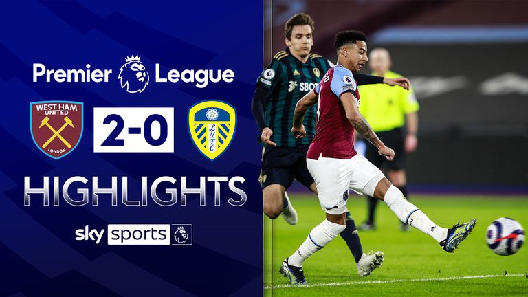 FREE TO WATCH: Highlights from West Ham's win over Leeds in the Premier League.