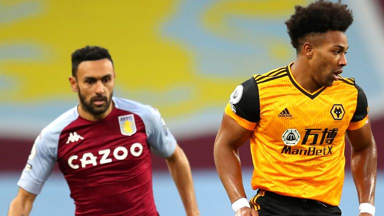 Adama Traore shields the ball from Ahmed Elmohamady