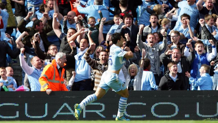 Aguero scored the famous last-minute goal to win Man City the 2011/12 Premier League title, capping off a late 3-2 comeback against QPR on the final day