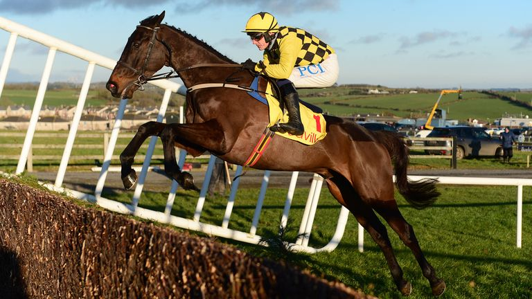 Al Boum Photo and Paul Townend jumping to win for owners Joe & Marie Donnelly and trainer Willie Mullins in The Savills New Year's Day Chase for the 3rd time at Tramore