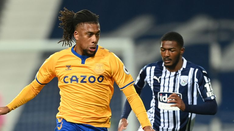 Alex Iwobi was brought into the Everton side for the trip to West Brom