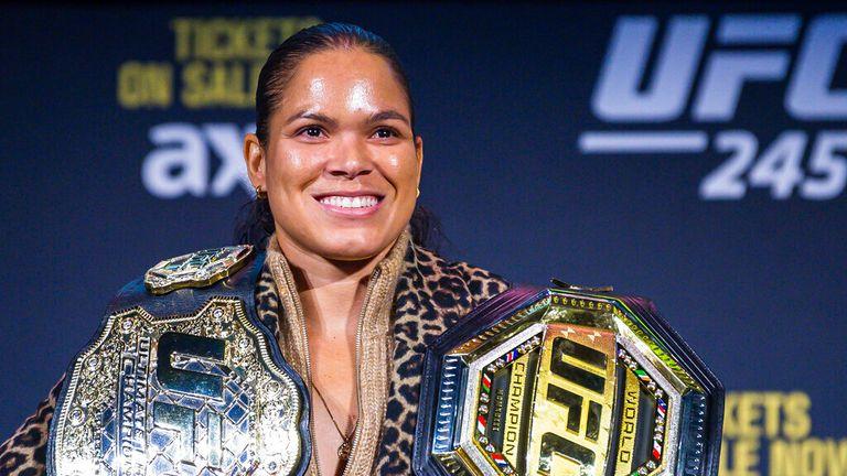 AP - Amanda Nunes during a press conference for UFC 245