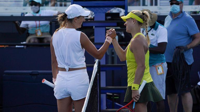 Victoria Azarenka y Angelique Kerber tienen cinco títulos individuales de Grand Slam (Foto de Michelle Yves Sandberg / Icon Sportswire) (Icon Sportswire vía AP Images)