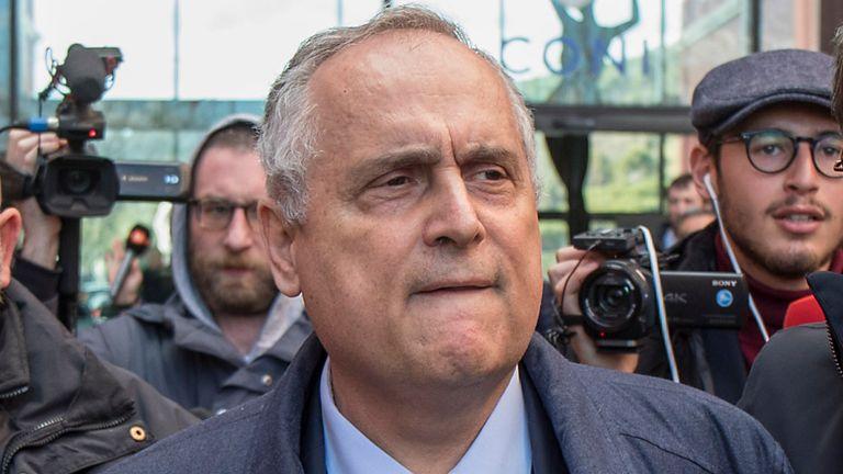 AP - Lazio president Claudio Lotito