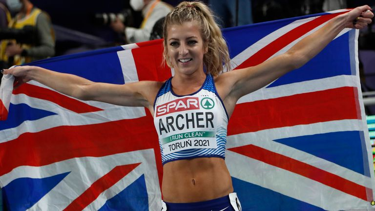 Holly Archer won silver in the women's 1,500 metres final but only after a nervous wait on the results of an appeal