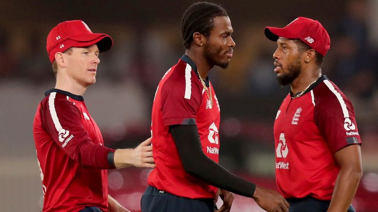 Jofra Archer took career-best T20I figures of 4-33 before taking England close with the bat