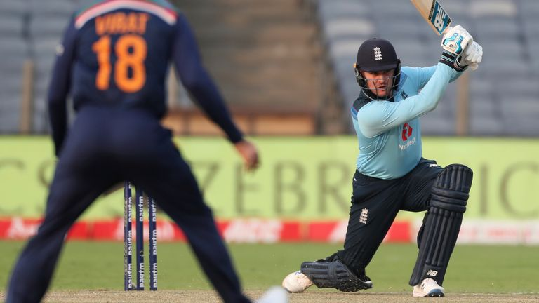 Jason Roy combined with fellow opener Bairstow to put England's reply firmly on track