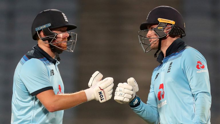 Jonny Bairstow and Jason Roy shared a superb 135-run opening stand in the first ODI against India