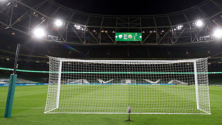 Stade Aviva avant le match de la République d'Irlande