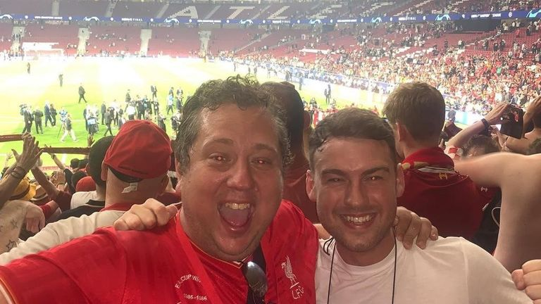 John Gibbons (left) and Craig Hannan at the 2019 Champions' League Final in Madrid
