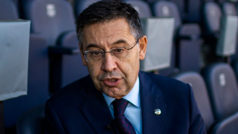 Josep Maria Bartomeu resigned as Barcelona president last year