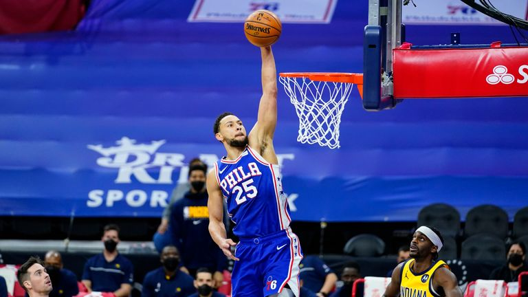 Highlights of the Indiana Pacers against the Philadelphia 76ers in Week 11 of the NBA.