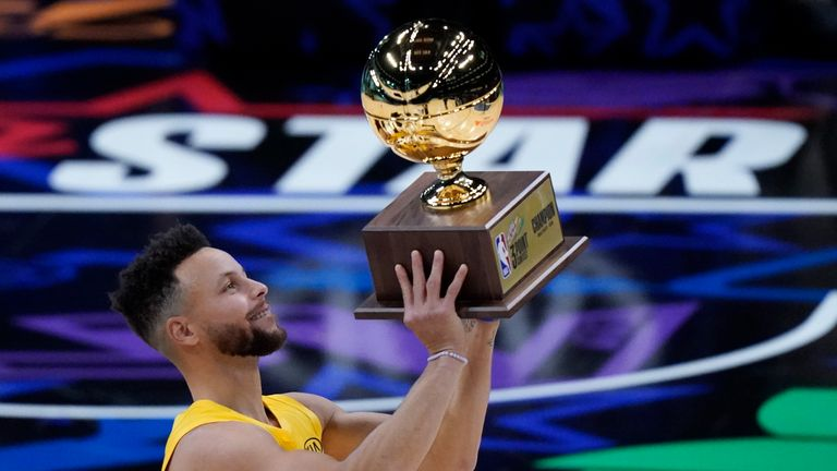 Steph Curry put up 28 points to win the 2021 MTN DEW Three-Point Contest.