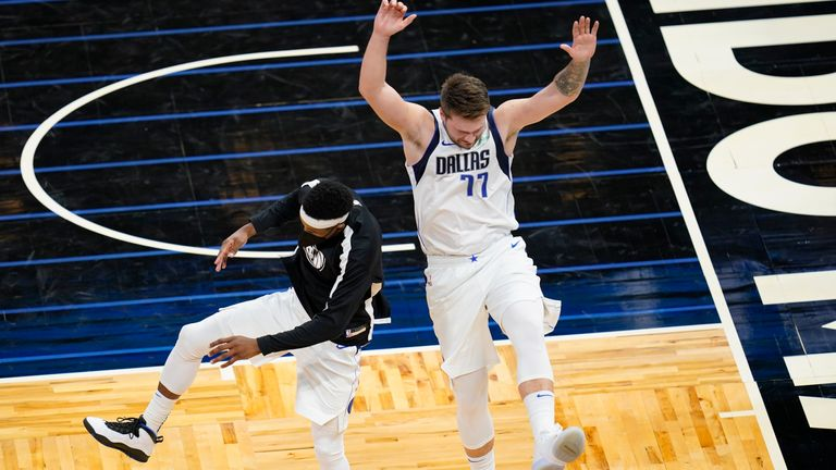 Luka Doncic top-scored with 33 points as Dallas beat Orlando in the NBA.
