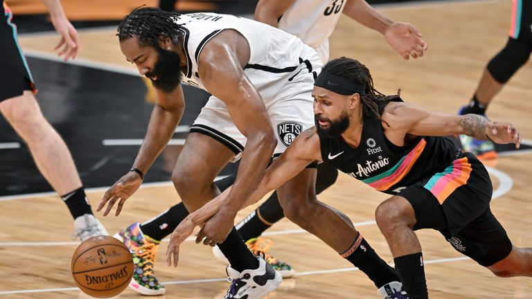 Highlights of the Brooklyn Nets against the San Antonio Spurs in Week 11 of the NBA.