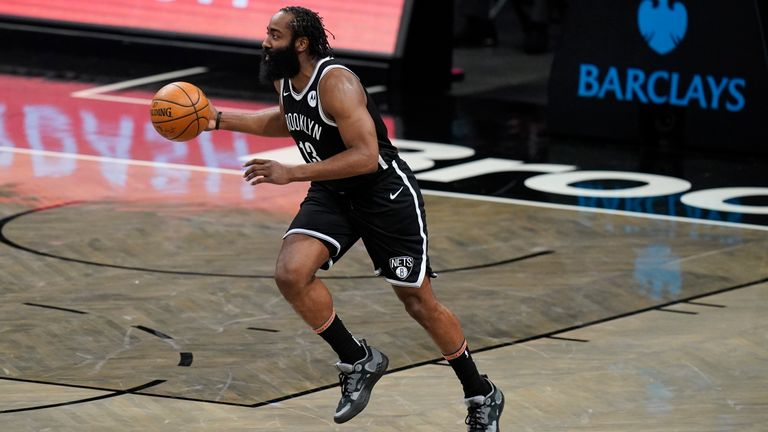 James Harden impressed once again with an amazing 38-point triple-double in Brooklyn's win over Minnesota (AP).