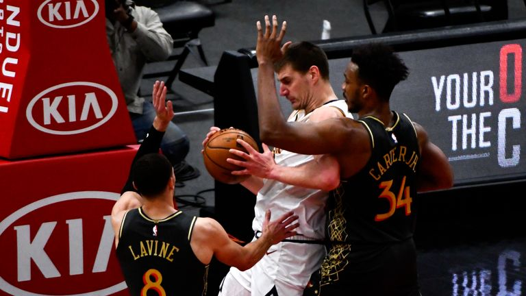 Nikola Jokic impressed with 39 points as the Denver Nuggets saw off the Chicago Bulls in the NBA.