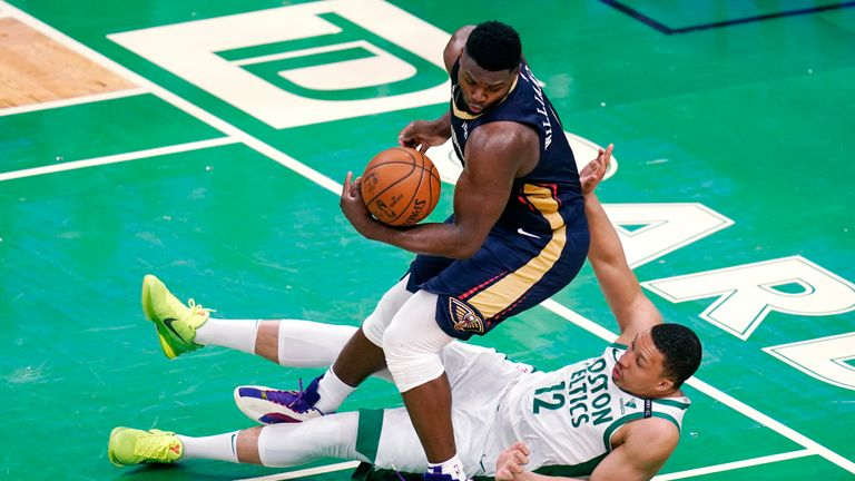 Highlights of the New Orleans Pelicans against the Boston Celtics in Week 15 of the NBA.