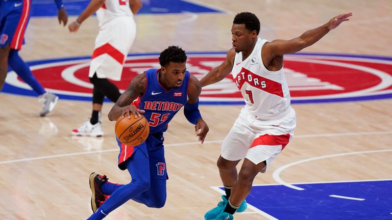 Highlights of the Toronto Raptors against the Detroit Pistons in Week 13 of the NBA.