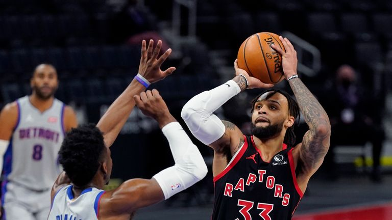 Highlights of the Toronto Raptors against the Detroit Pistons in Week 15 of the NBA.