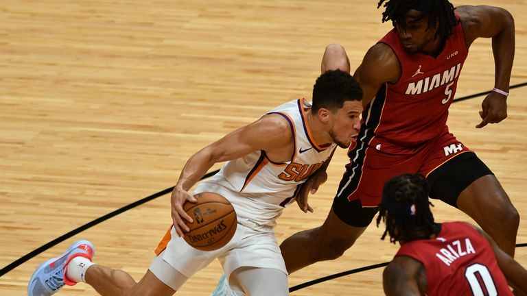 Highlights of the Phoenix Suns against the Miami Heat in Week 14 of the NBA.