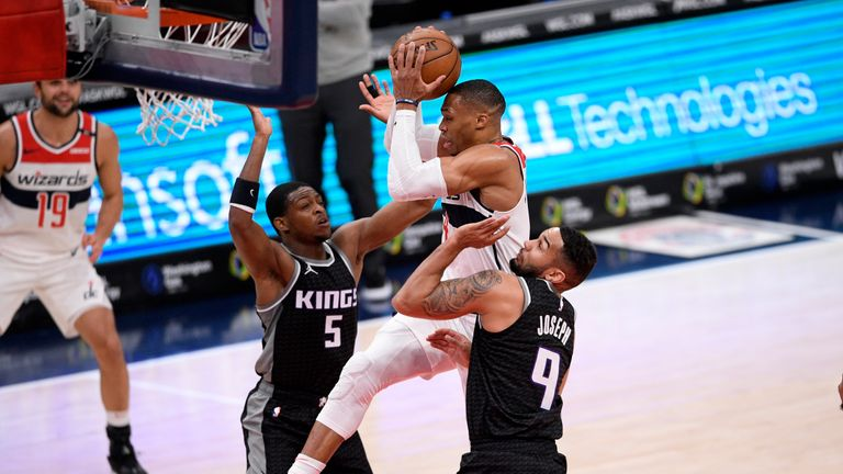 Highlights of the Sacramento Kings against the Washington Wizards in Week 13 of the NBA.