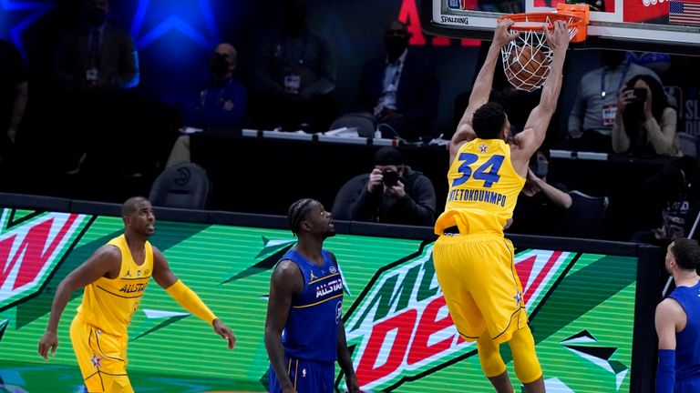 Check out the top ten dunks from Sunday night's NBA All-Star Game.