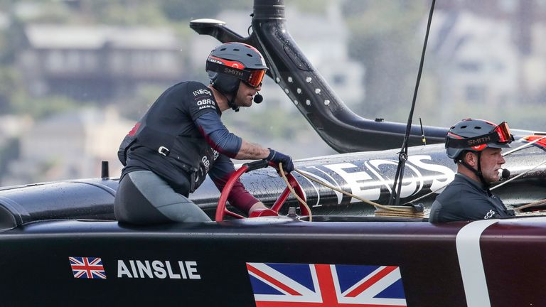 Great Britain SailGP Team helmed by Ben Ainslie in action during Race Day 1 of the Sydney SailGP, Event 1 Season 2 in Sydney Harbour, Sydney, Australia. PA Photo. Picture date: Friday February 28, 2020. Photo credit should read: Bob Martin for SailGP/PA Wire