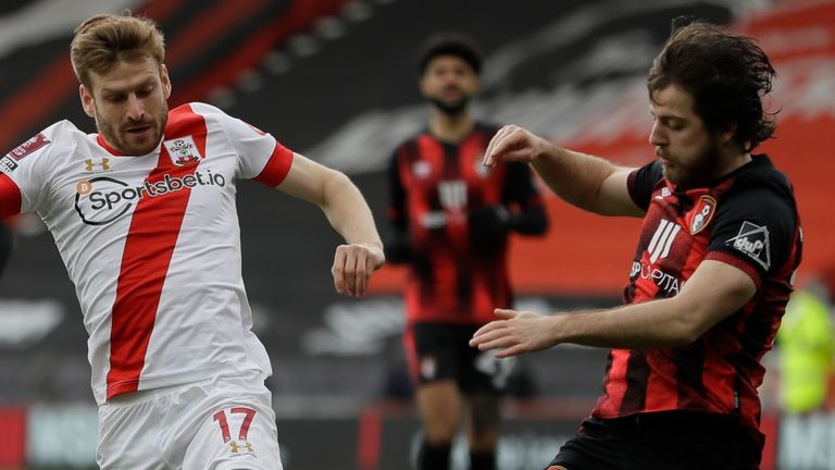 Action from Bournemouth vs Southampton the FA Cup quarter-finals