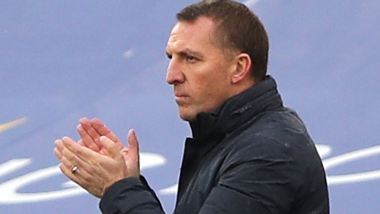 Leicester manager Brendan Rodgers (PA)