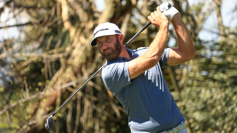 Dustin Johnson made the cut with a 67