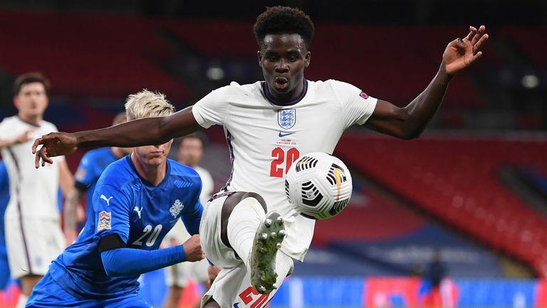 Bukayo Saka hat nach seinem Debüt im vergangenen Jahr vier Länderspiele für England bestritten