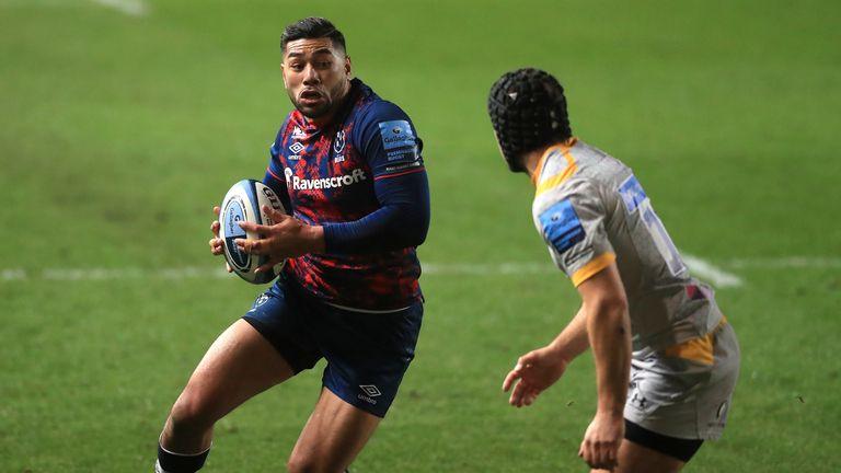 Full-back Charles Piutau attacks for Bristol