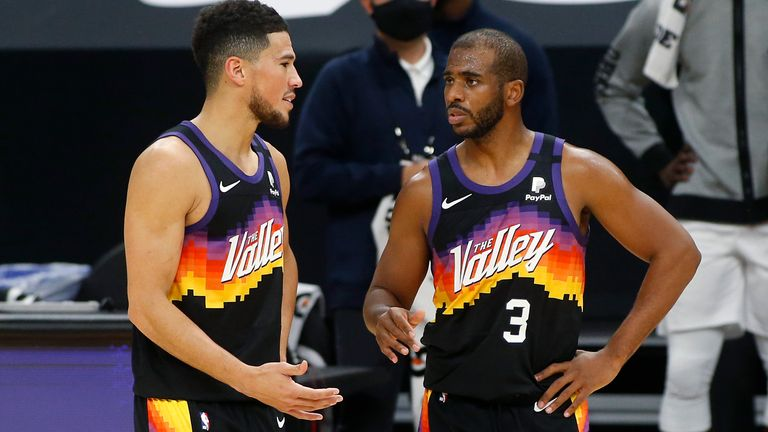 Chris Paul and Devin Booker will lead the Phoenix Suns hopes (AP Photo/Ralph Freso)