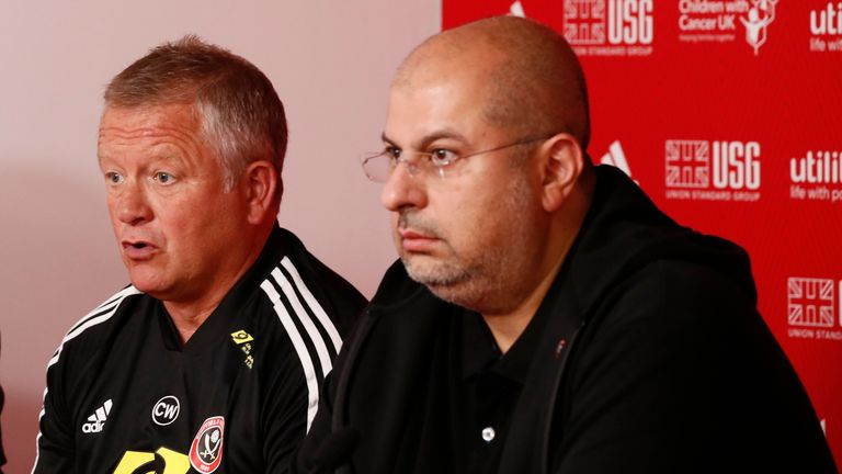 Chris Wilder and Prince Abdullah at Sheffield United before the manager's acrimonious exit