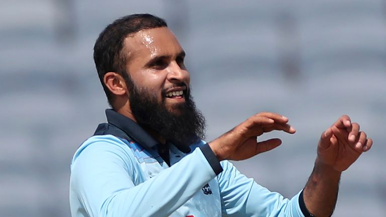 Adil Rashid dismissed both India openers after an a stand of 103 for the first wicket