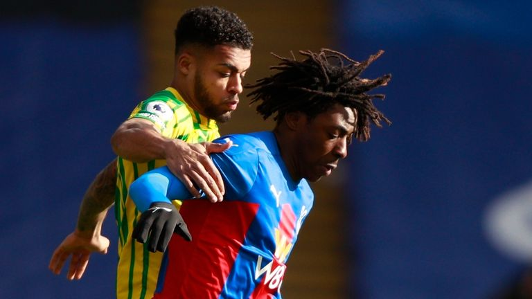 Action from Crystal Palace vs West Brom